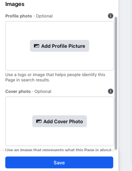 Upload a profile picture that represents your page