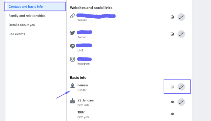 select Contact and Basic Info