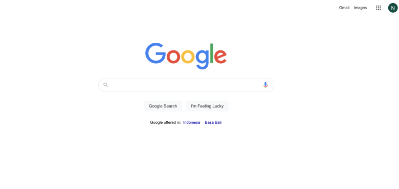 it open new tab that contain Google homepage