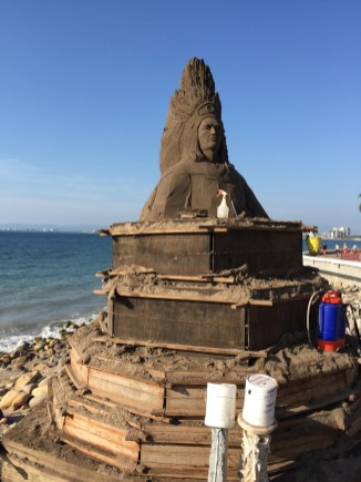 Malecon sand sculpture