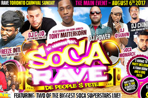 Soca Rave – De People's Fete-2 of the Biggest Soca Superstars Live Sunday August 6th inside Whitehaus!