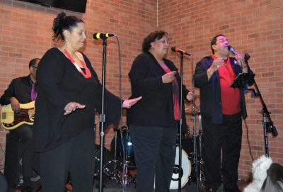 Love and Soul Band vocalists Valerie Johnson, Gail Smith, Zee Arroyo