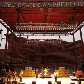 On stage, Red Rocks, CO