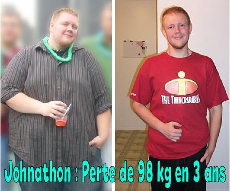 Johnathon avant apres fitness