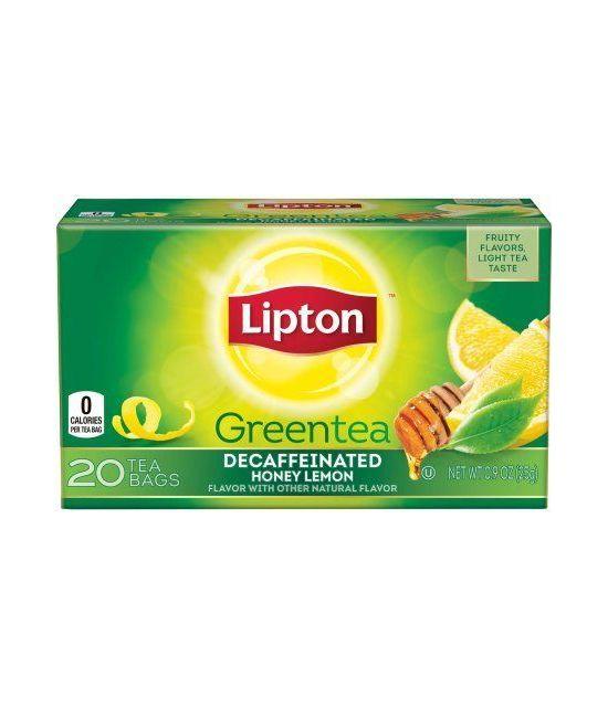 Lipton Th 233 Vert Au Miel Et Au Citron