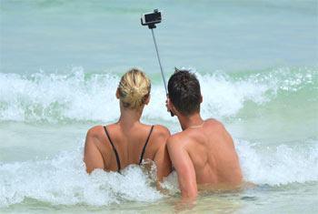 Selfie à la plage