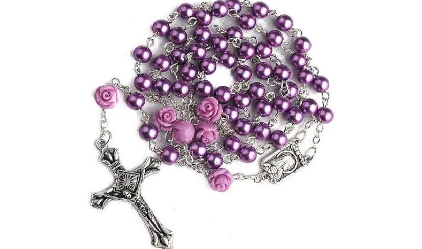 corona del rosario viola