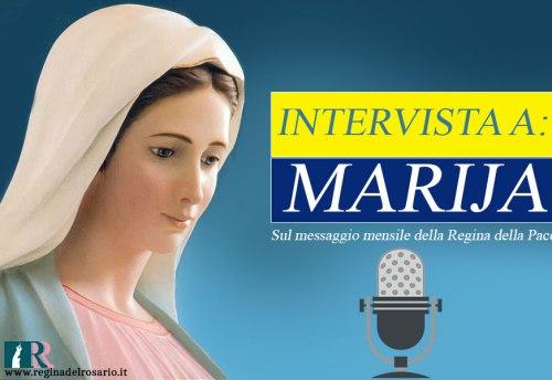 intervista alla veggente Marija