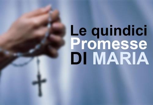 Le 15 promesse della Madonna per chi recita il rosario
