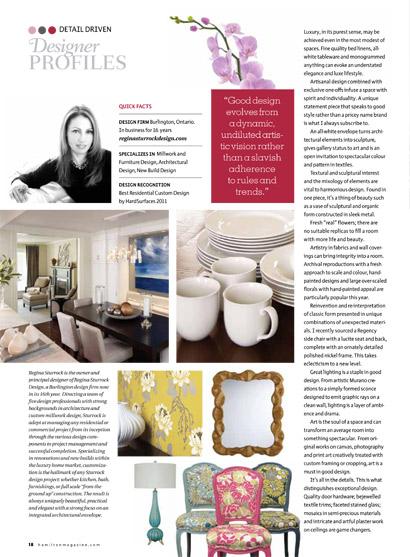 Published Interior Design Projects Regina Sturrock Design