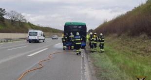 Motor eines MVV-Linienbus gerät in Brand Quelle Foto Feuerwehr München