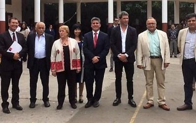 Uñac participa de la visita de Michelle Bachelet a Coquimbo