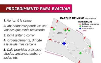 Plan de evacuación ante eventualidades en la Fiesta del Sol