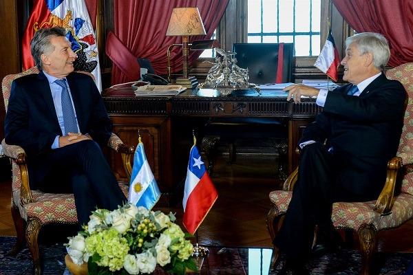 Piñera recibió a Macri a horas del cambio de mando en Chile