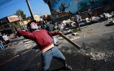 Chile: fuertes disturbios en Santiago