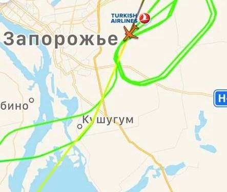 Капітан турецького літака не зміг сісти у запорізькому аеропорту, повернув на Стамбул