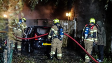 Photo of Auto in vlammen op in Middenmeer