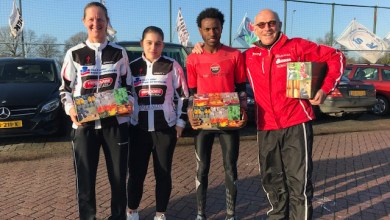 Photo of Filmon Tesfu winnaar Runnersworld Hoorn Crosscircuit