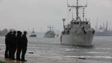 Photo of Marineschepen onderweg naar huis