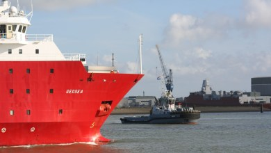 Photo of MV Geosea onderdeel van de marinevloot