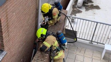Photo of Brand in steeg tussen horecazaken in De Koog