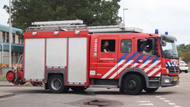 Photo of Brand in paviljoen op de Maaskampkazerne