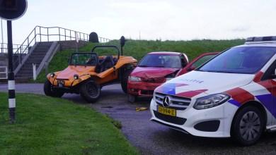 Photo of Aanrijding strandbuggy en auto op brug Van Ewijcksluis