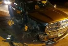 Photo of Stuurstang breekt af, auto ramt lichtmast
