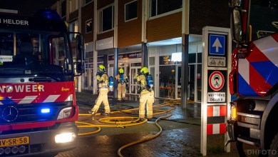 Photo of Brand bij supermarkt aan de Marsdiepstraat