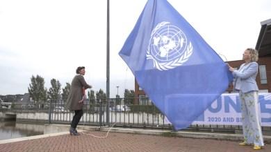 Photo of Vlag in top voor 75-jarige VN (video)
