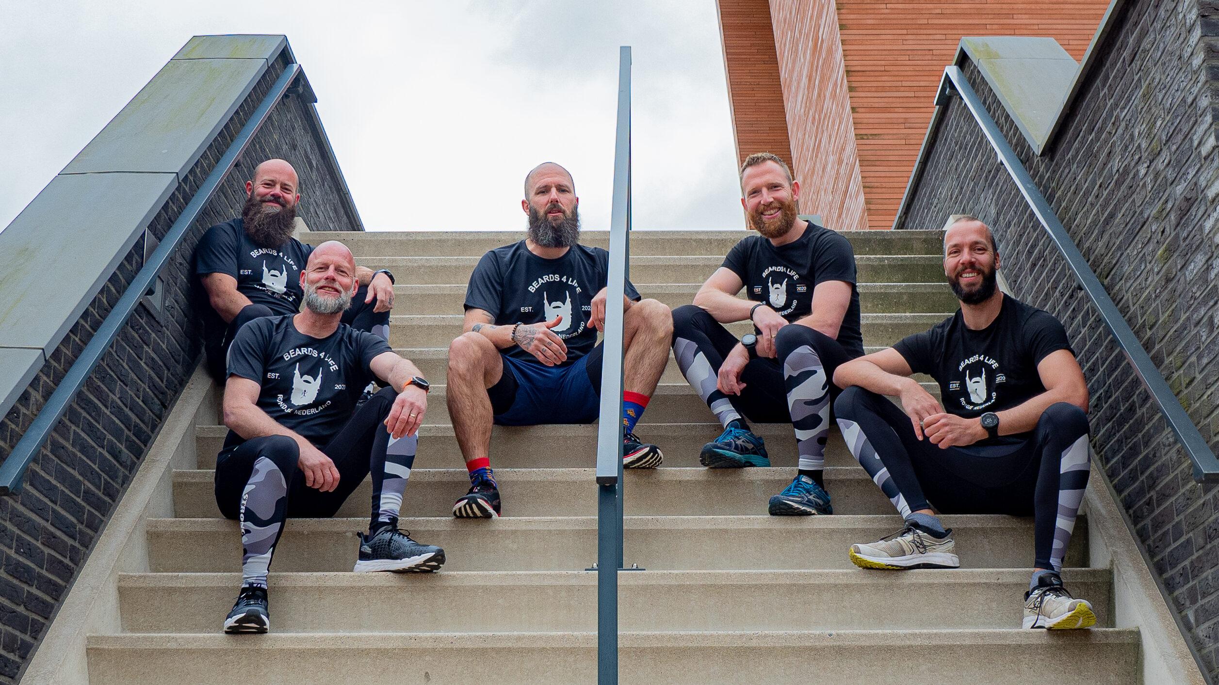 De hardloopmannen van Beards4Life