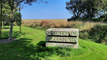 Dit monument stond vroeger op de Afsluitdijk