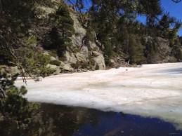 surface gelée de Estany del Llarg