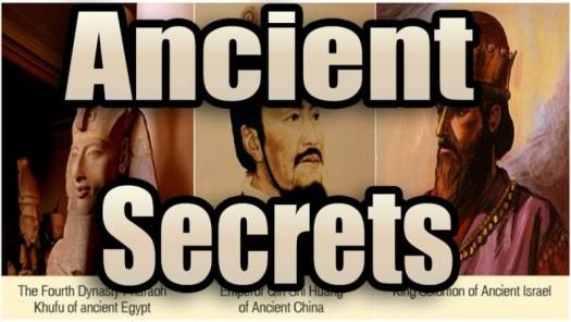 ancient secrets and images of olden rulers in the background