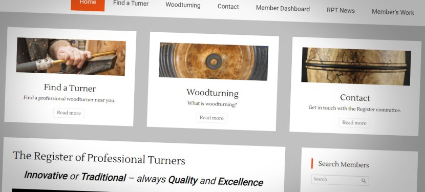 The Register of Professional Turners Unveils Fresh New Website and Logo