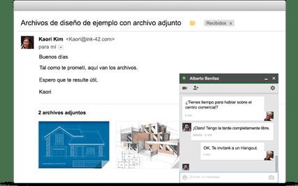 gmail + navegador + dominios