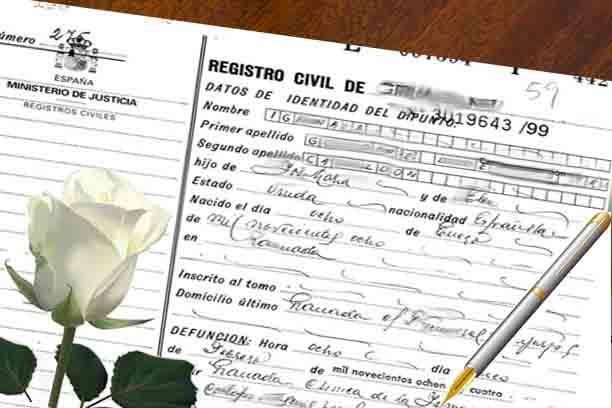certificado de defuncion bilbao