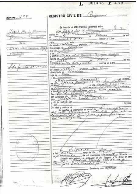 certificado de matrimonio murcia