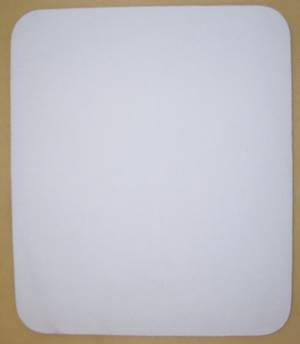 Blank White Mouse Pads on Beige Rubber Base