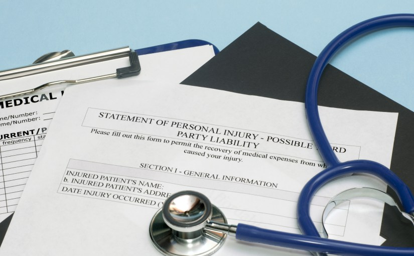 personal injury form and chart
