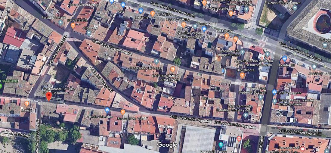 Mapa entorno Pignatelli
