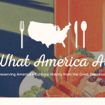 screenshot of project What America Ate