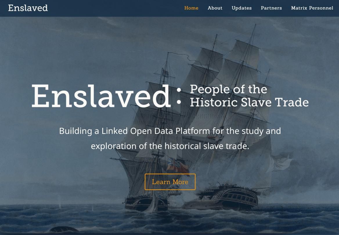 Enslave web site front page