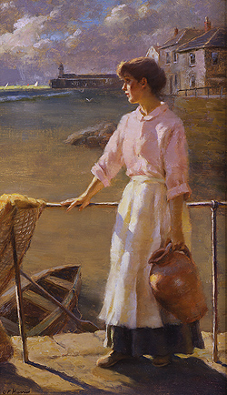When the Storm Clears by Gregory Frank Harris - 20 x 12 inches Signed contemporary american plein air plain air figurative figures