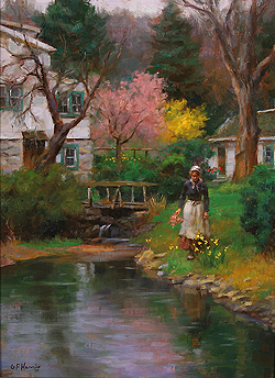 Spring Blossoms by Gregory Frank Harris - 16 x 12 inches Signed; also signed, titled and dated on the reverse