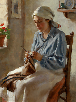 A Still Morning by Gregory Frank Harris - 16 x 12 inches Signed; also signed, titled and dated on the reverse contemporary american plein air plain air figurative figures