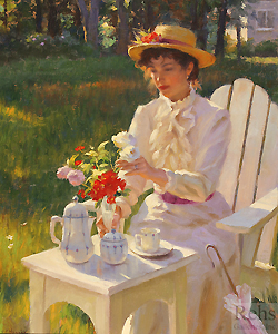 Morning Bouquet by Gregory Frank Harris - 24 x 20 inches Signed; also signed and titled on the reverse contemporary american genre flowers garden figurative