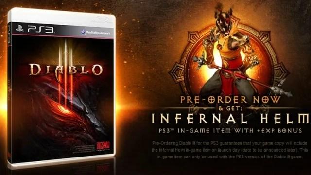 Bonus per il pre order della versione PS3 di Diablo III