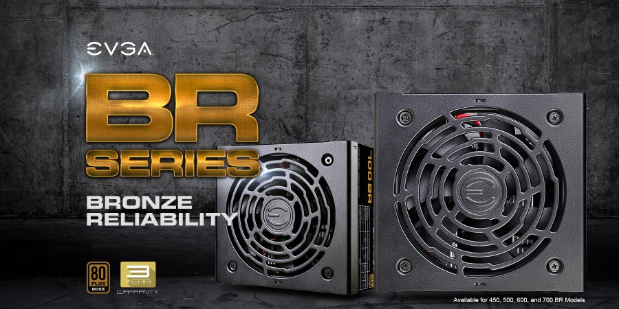New Bronze rated power supplies from EVGA