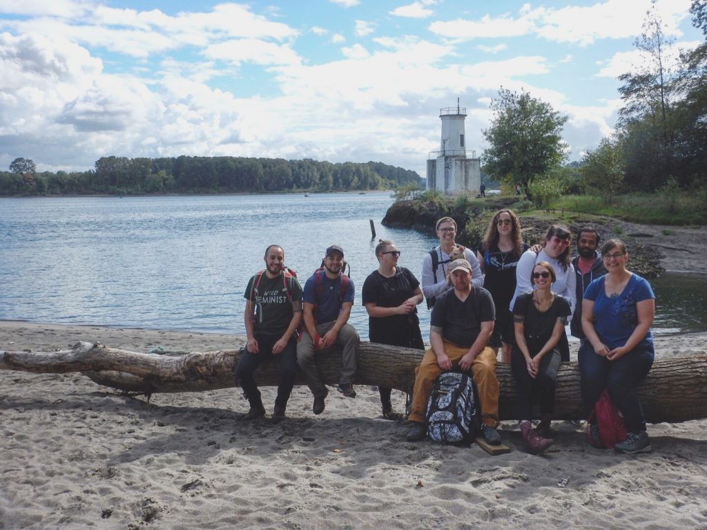 Unlikely Hikers group hike on Sauvie Island